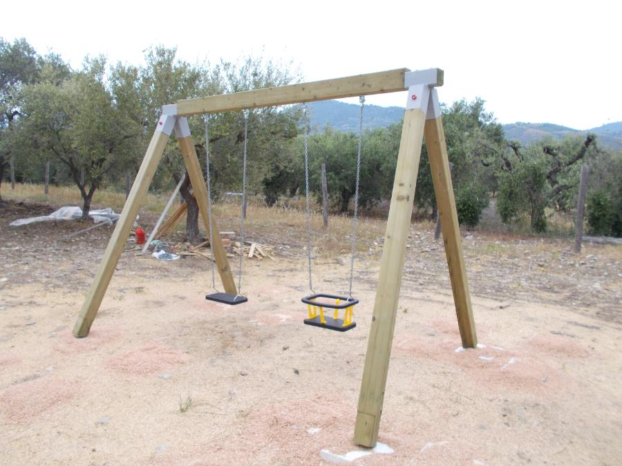 Altalena, uso pubblico, parchi gioco in legno, uso pubblico en1176